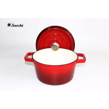 Cazuela de horno holandés de hierro fundido 6.5qt