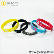 Custom Logo size design rubber bracelet promotional items