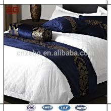 New Design Purple Jacquard Hôtel King Size Bed Runner