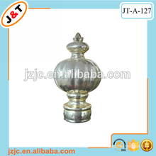 metal curtain rod with plastic gold classic finial