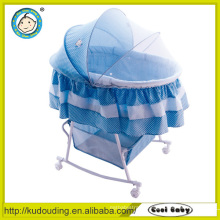 Aluminium baby bed swinging crib