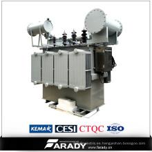 Transformador automático electrónico inmerso en aceite trifásico