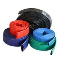 Tuyau plat en PVC bleu