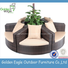 Garden Furniture round rattan sofa Set outdoor sectional