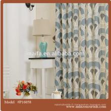 Tissu de rideau de fenêtre de dernière génération de luxe et de haute qualité US $ 4-7 rideau 90