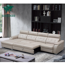 Electric Control Convertible Recliner Corner Sofa Bed with Loung Chair