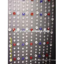 Pujiang Fábrica de Preços Direto pendurado porta cristal beads cortina