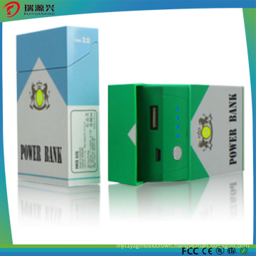 Private Mould Cigarette Box Shape Power Bank Charger 4000mAh