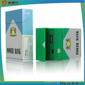 Carregador privado 4000mAh do banco do poder da forma da caixa do cigarro do molde