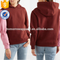 Two Tone Cotton Jersey Hooded Sweatshirt OEM/ODM Manufacture Wholesale Fashion Women Apparel (TA7011H)