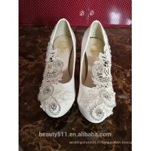 Chaussures à talons hauts de haute qualité et pointues, chaussures à laser, chaussures à rayures, chaussures de mariée, femmes WS045