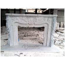 2018 Nova lareira de mármore branco