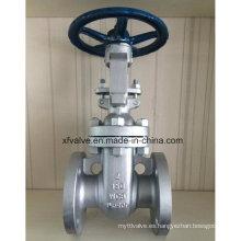 Válvula de puerta de la rueda de la mano del extremo del reborde de Wcb del acero de carbono 150lb