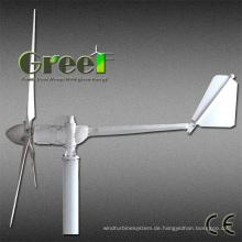 Horizontale Achsen-Windkraftanlage 3kw 300rpm mit niedrigem Preis