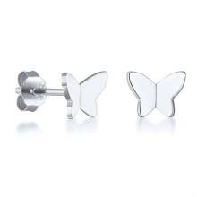 Fashion Korean Mini Cute Romantic Stainless Steel Butterfly Stud Earrings For Women Girl Jewelry