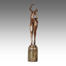 Абстрактный Рисунок статуя Леди украшения бронзовая скульптура ТПЭ-802