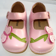 Lovely Pink Big Butterfly Girl Squeaky Shoes