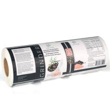 Etiquetas de alimentos para embalagem em sanduíche de adesivo impresso personalizado