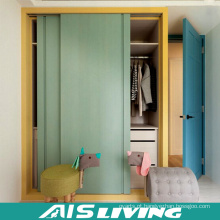 Armário dobro do vestuário do quarto da cor com porta deslizante (AIS-W333)