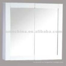 4mm de espesor de vidrio de dos puertas de espejo de plata Vanity gabinete