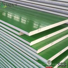 Panel de sándwich de poliuretano PU para construcciones Construcciones