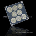 Thin square led gas canopy light