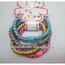 cordón elástico colorido elástico del pelo para que usted elija