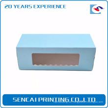 Caja de papel del embalaje de la torta del diseño personalizado de Sencai