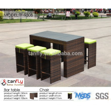 rattan/wicker furniture high top bar table and chairs
