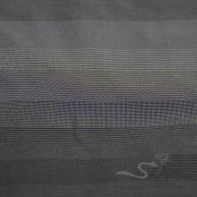 Imperméable à l'eau et à l'extérieur Vêtements de sport en plein air Veste en jacquard tissé à rayures Jacquard 100% polyester en fil de fil noir (FJ020)