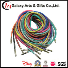 Custom 3m Reflective Shoestrings Round Polyester Rope Refelective Shoelace