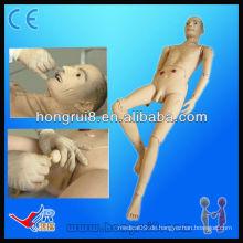 Fortgeschrittene medizinische Voll-funktionale ältere männliche Patient Krankenpflege Model Manikin zum Verkauf