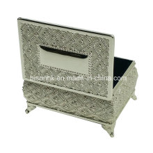 Metal Rectangle Jewelry Box, Silver Jewel Box, Silver Jewelry Case
