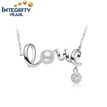 Freshwater Pearl Pendant Jewelry Romantic Forever Love AAA Button Genuine Pearl Pendant