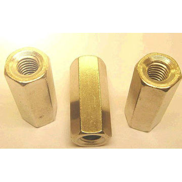 CNC machine brass male / female spacer