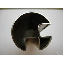 304 / 304L / 316 / 316L / Tube rond en acier inoxydable à double fente (90 degrés)