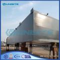 Marine steel pontoon design for dredging