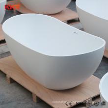 White matte freestanding 1300mm very small round bathtubs