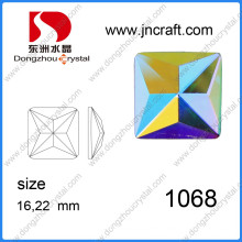 Dz-1068 Faceted Crystal Ab Glass Fancy Square Shape Colorful AAA Grade Stone