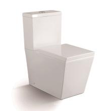Toilette en céramique à deux pièces 1203A avec couvercle de siège lent