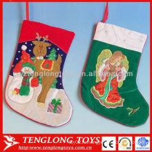 Новогодние украшения Деликатный вышивать Рождественский чулок