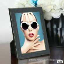 Hot selling 8 *10'' black photo frame with matboard