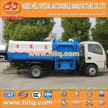 Vente chaude à bas prix 5m3 NOUVEAU dongfeng 4x2 camion à ordures hermétique diesel