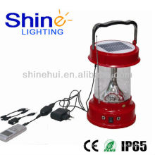 portable Transparent PC led lantern camping dynamo solar lantern
