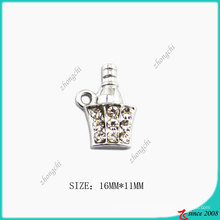 Zinc Alloy Metal Fashion Cute Ice Beer Charm