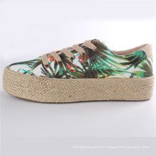 Women Shoes Canvas Rubber Shoes with Hemp Rope Platform Snc-28007