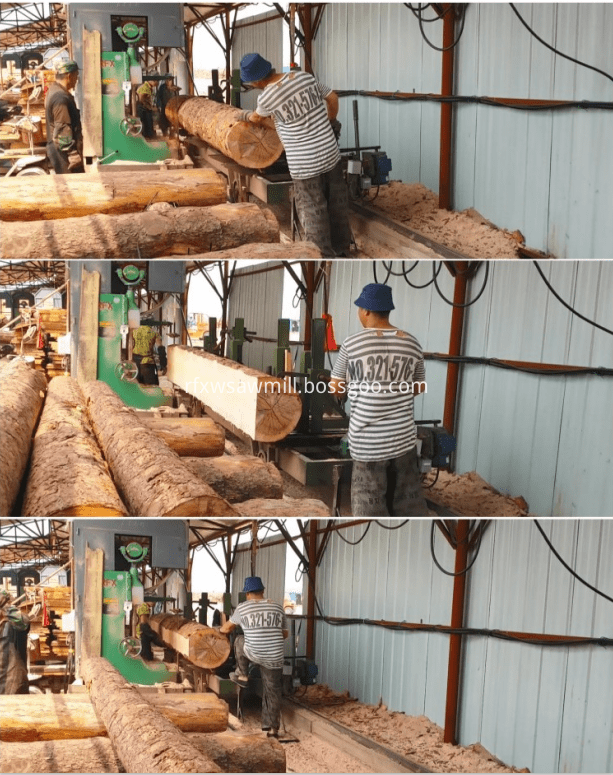 vertical band saw machine and log carriage