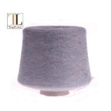 Supersoft alpaca merino wool brush yarn with elasticity