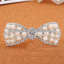 2014 fancy beaded pearl hair bow accessory hair and jewelry hair clip