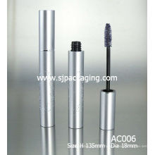 empty luxury matte aluminium mascara container